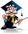 Clipart of a professor in cap and gown